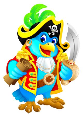 Pirate parrot  Stock Photo - 3566926