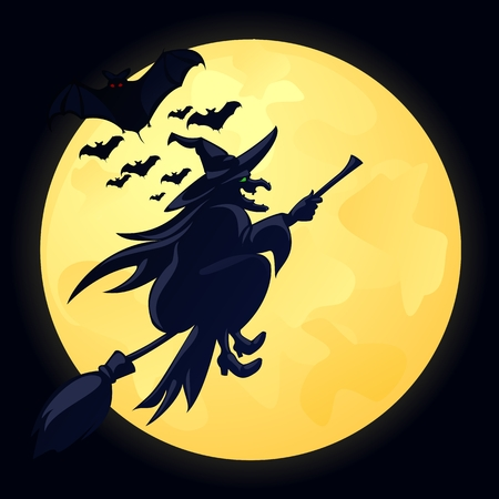 broomstick: Witch Illustration