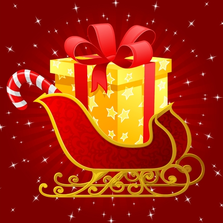 Santa Claus sleigh Stock Vector - 3709120