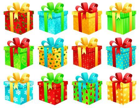 Christmas gift boxes Stock Vector - 3730306