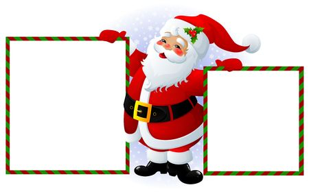 Santa Claus with message board Stock Photo - 3730305
