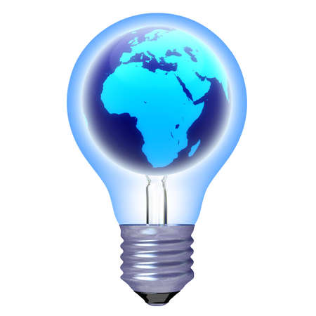 bulb planet color blue isolated photo