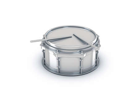 chrome drum with metal drumstick