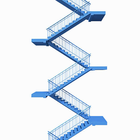 flight of stairs in perspective view