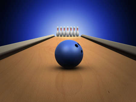 elation: bowling skittles on lane
