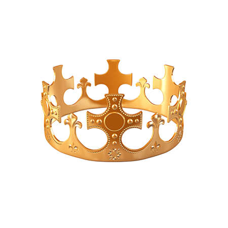 top class: gold crown close up view isolatedr