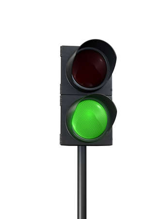 traffic lights green front view  Stock Photo