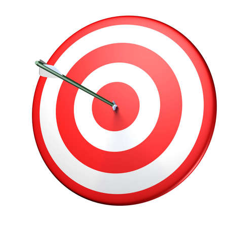 targetting: circle red target with arrow
