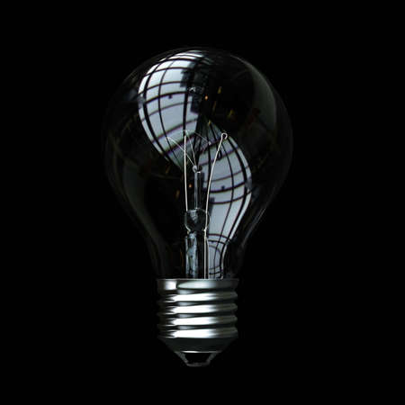 light bulb on black background Stock Photo