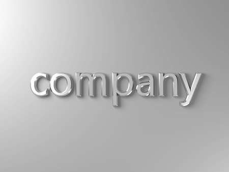 company silver text Stock Photo - 3131251