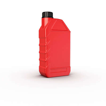 petrol can: motor oil red plastic bottle