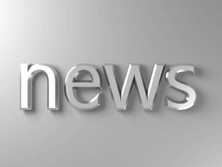 news title silver text Stock Photo - 3133386