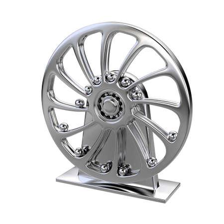 chrome pendulum wheel isolated Stock Photo - 3128419