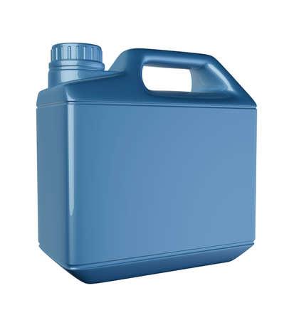 motor oil bottle blue isolated