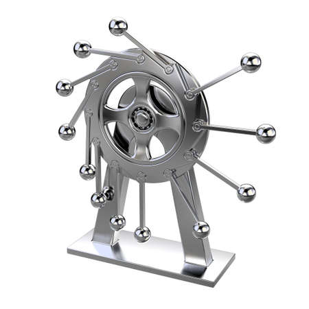 chrome pendulum model isolated