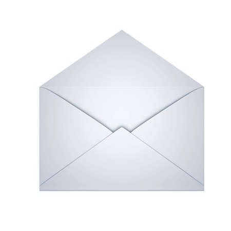 letter envelope: open envelope isolated