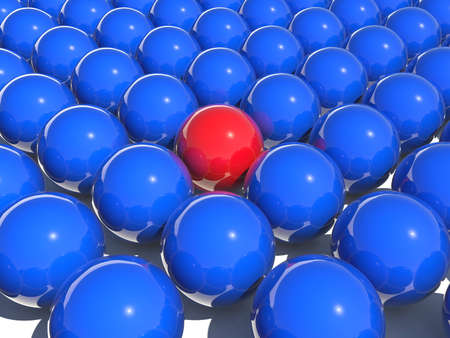 blue and red color balls Stock Photo - 3134259