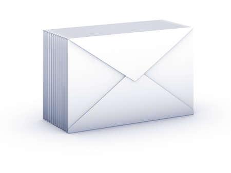 pack envelopes on white background
