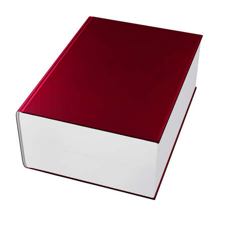 big book with red cover isolated photo