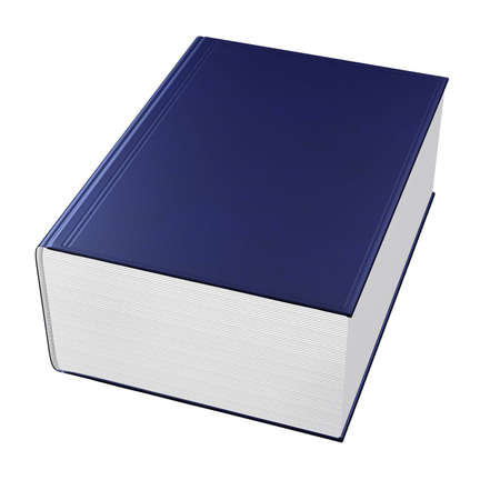 big book with blue cover isolated