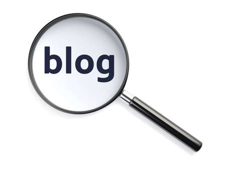 blog text under magnifying glass