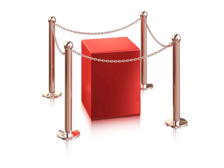 red pedestal is protection a chain