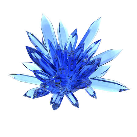 blue rock crystal isolated on white