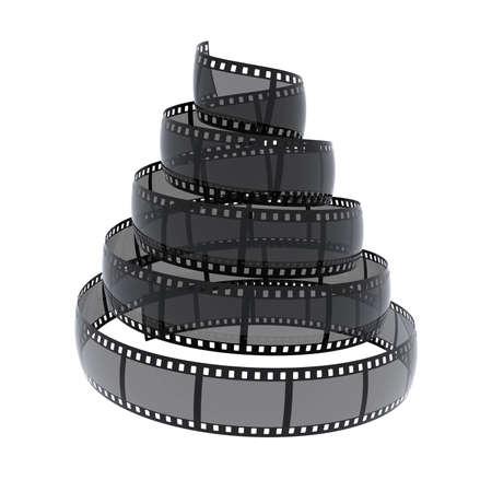 cinefilm spiral isolated on white