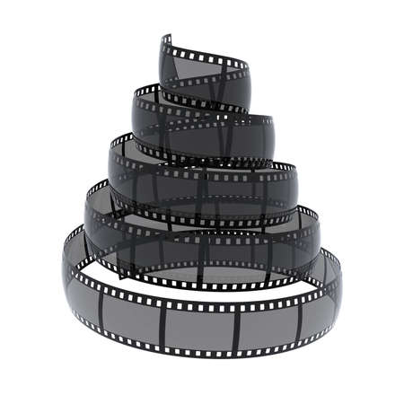 cinefilm spiral isolated on white