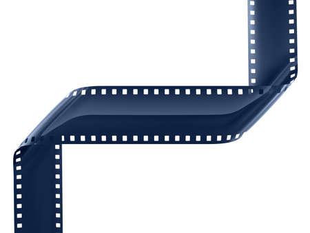 blue film strip on white