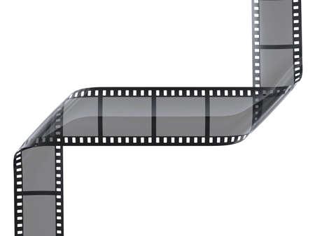 rollo fotogr�fico: cinefilm con marcos en blanco