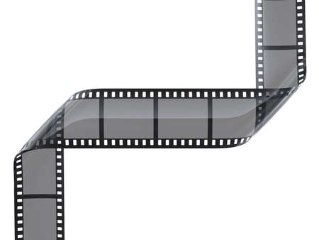 photographic film: cinefilm with frames on white