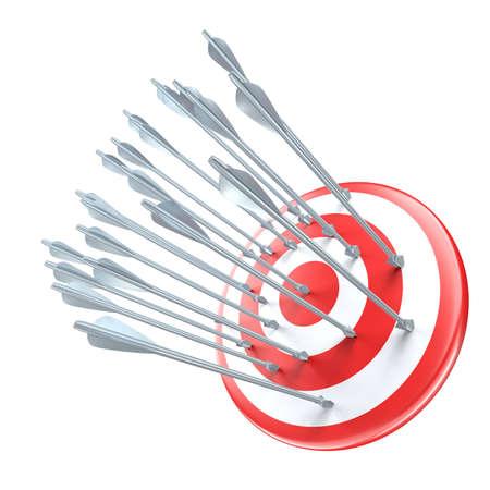 steel arrows in target close upr