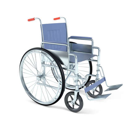 impairment: wheelchair isolated on white background