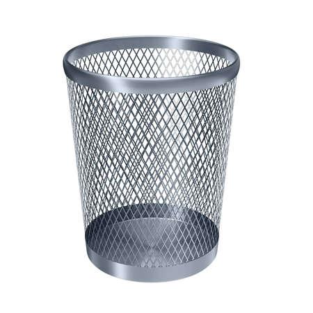 papelera de reciclaje: vaciar la papelera de reciclaje aisladas en blanco