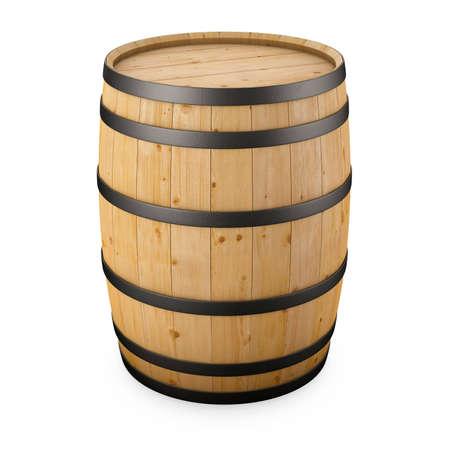 wood barrel isolated on white