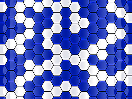 abstract blue cell hexagon background Stock Photo - 5451747