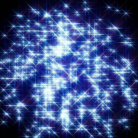 the pleiades: blue shiny starlight glow background Stock Photo