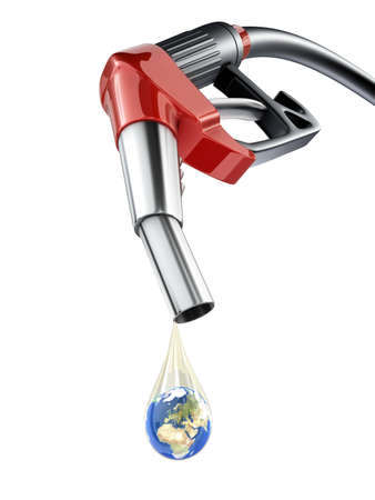 Earth in fuel drop concept