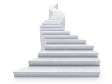 escalera: abrir la escalera doblado aislado en blanco  Foto de archivo