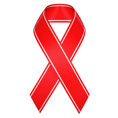 aids red ribbon symbol isolated Stock Photo