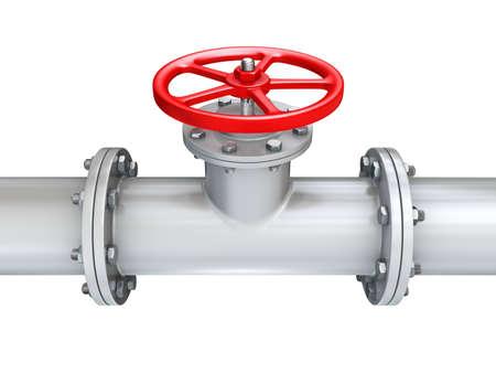 vanne sur gazoduc fermer  Banque d'images