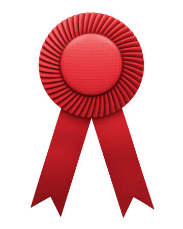 red award ribbon badge isolated  Stock Photo