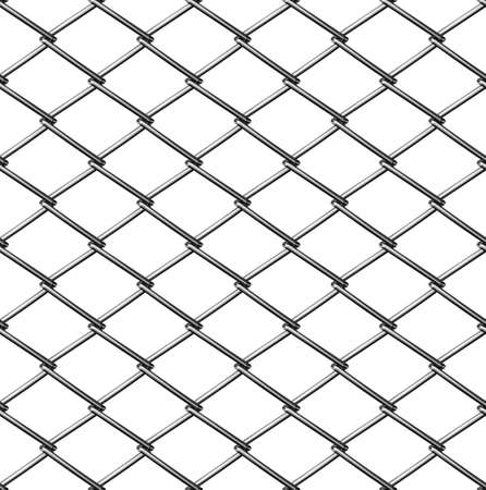 chainlink fence seamless on white