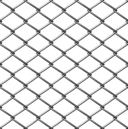 rabitz: chainlink fence seamless on white