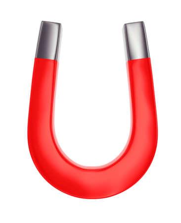 magnet horseshoe isolated on white