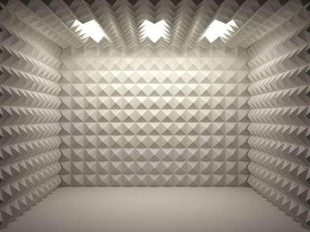 recordings: soundproof room empty and clean