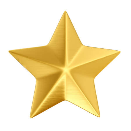 gold star isolated on white  Stock Photo