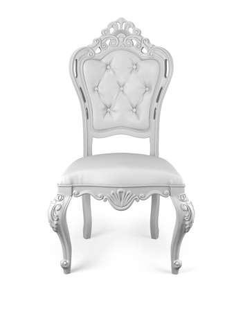 chair: classic chair isolated on white  Stock Photo