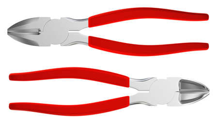 pliers with red handle isolated Stock Photo - 9553446